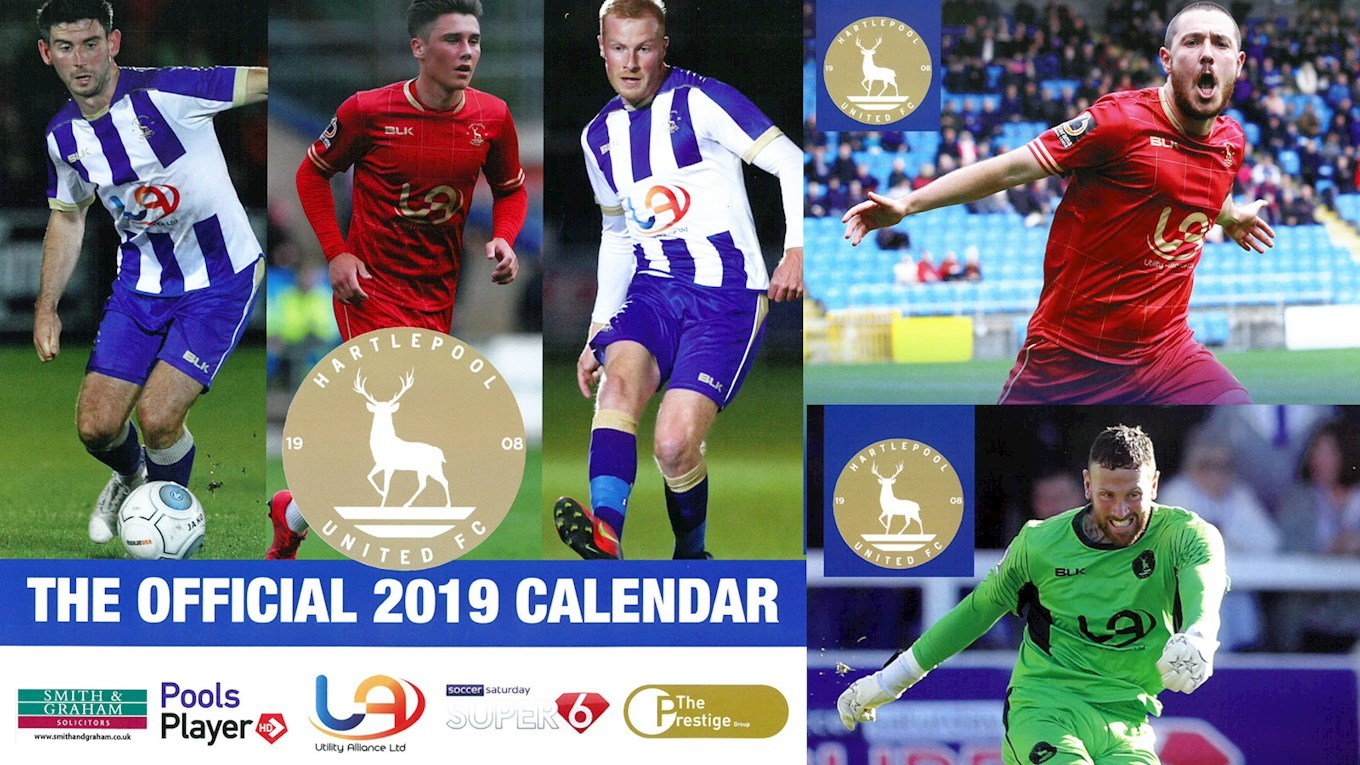 b144d2933 2019 Club Calendars Now In Stock - News - Hartlepool United