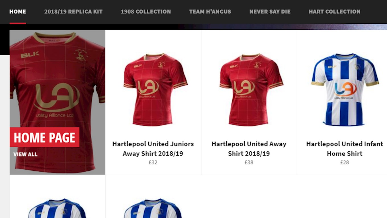 a4fb68b5e Home and away shirts are available from our new Online Store